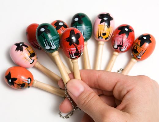 Mini-maraca Keychain