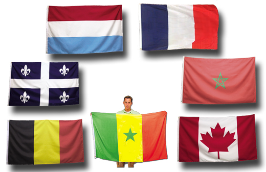 Giant Full-Size French Flags - France Flag 5 x 3 Feet