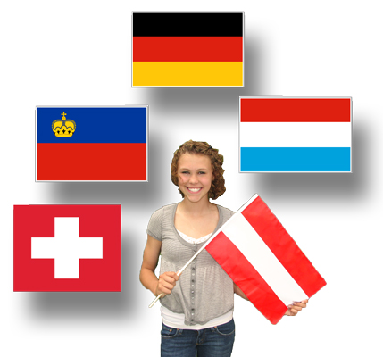 Classroom-Sized Flags of German-Speaking Countries