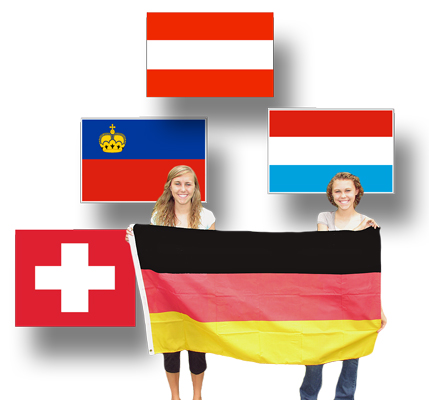 Full-Size Flags for German-Speaking Countries
