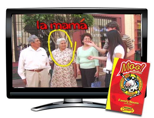 Moo!™ Family Nouns Spanish Video