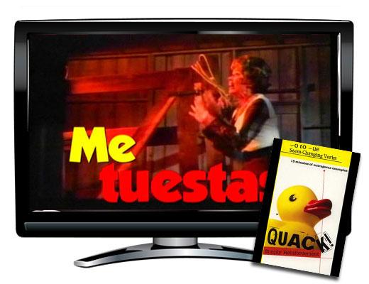 Quack!™ O to UE Stem-Changing Verbs Spanish Video