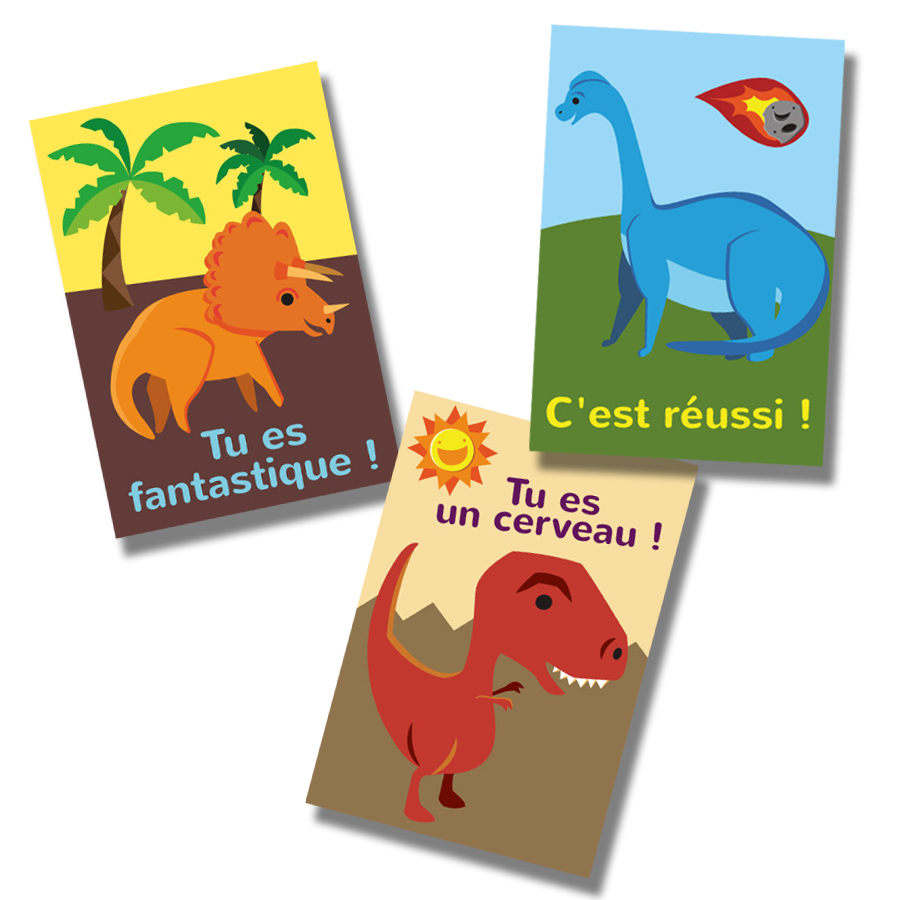 Êtresaurus French Stickers (60)