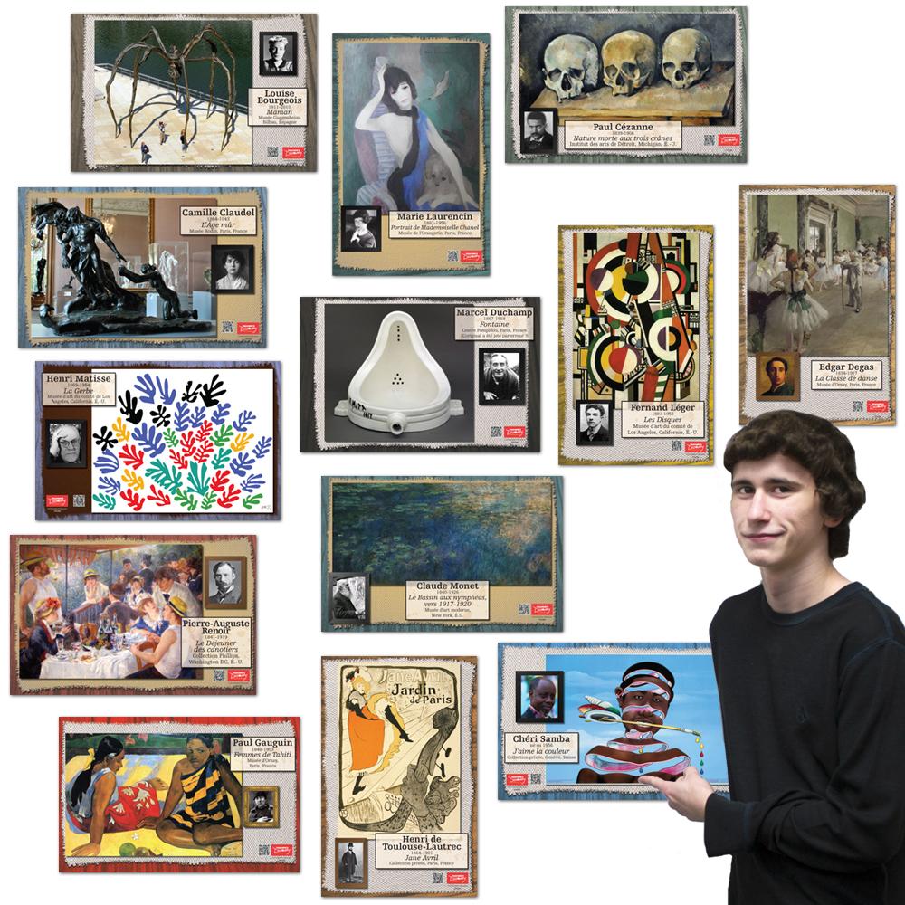 Les artistes français Bulletin Board Set