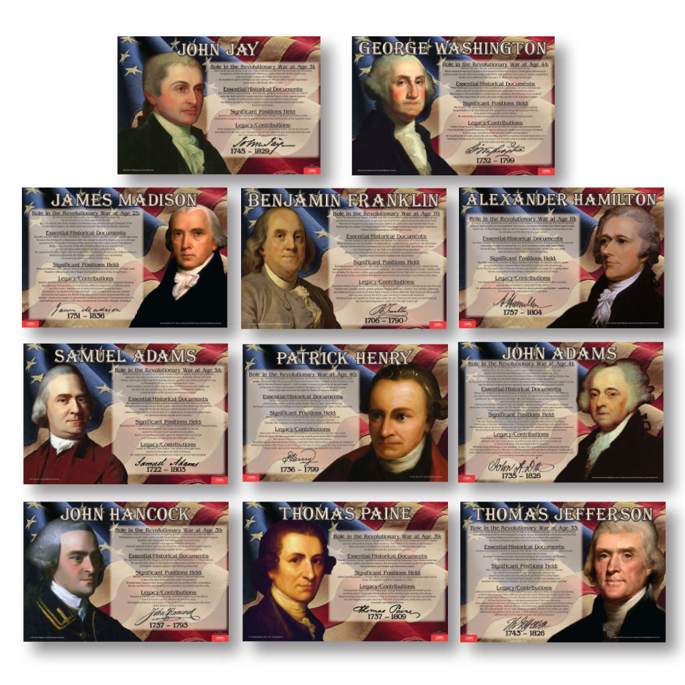 Founding Fathers ~ Set of 11 Posters
