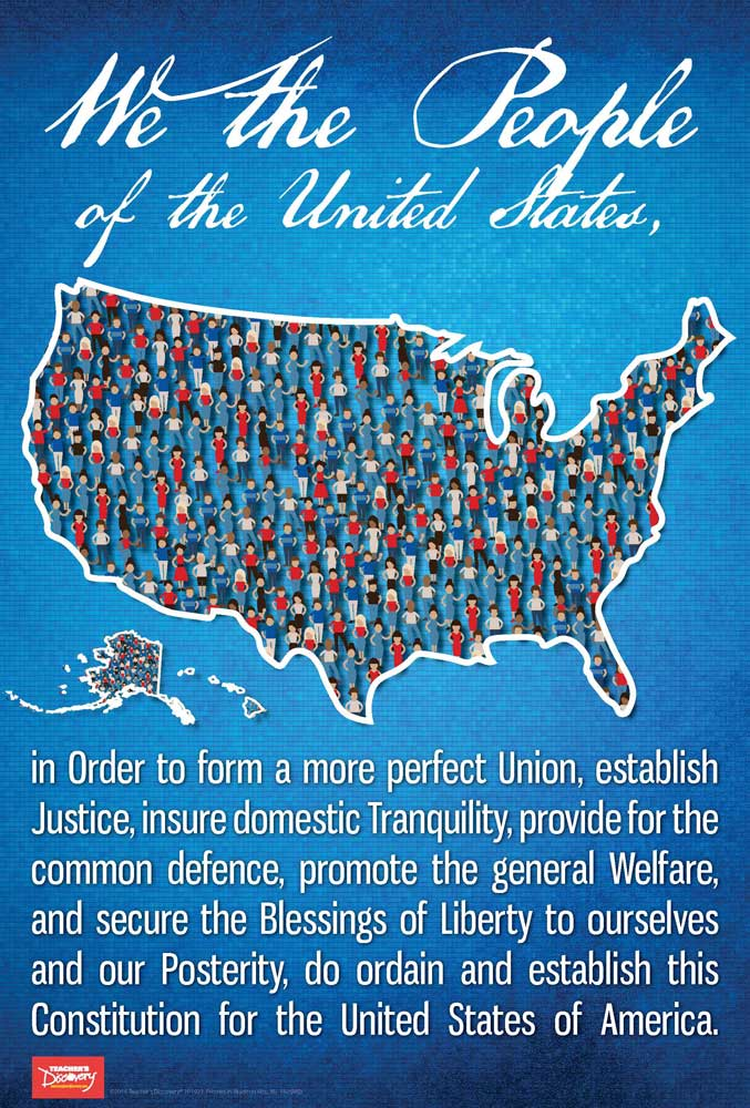 We the People Preamble Mini-Poster