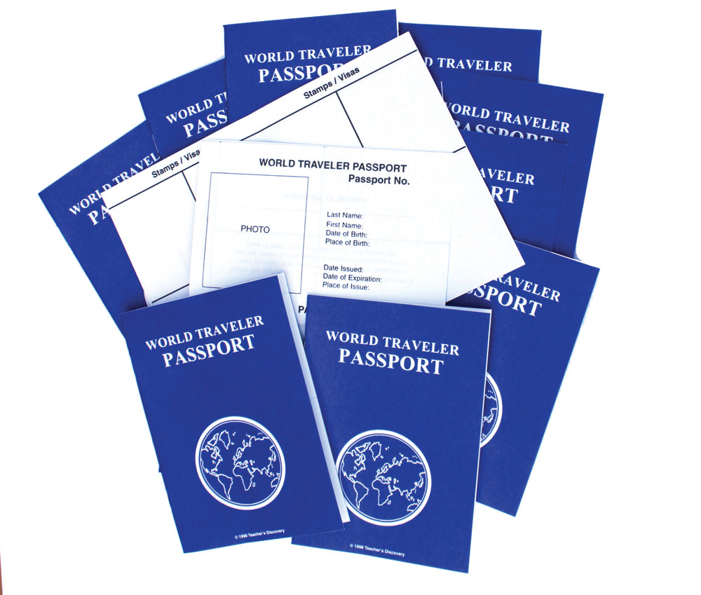 World Traveler Passport ~ Set of 30