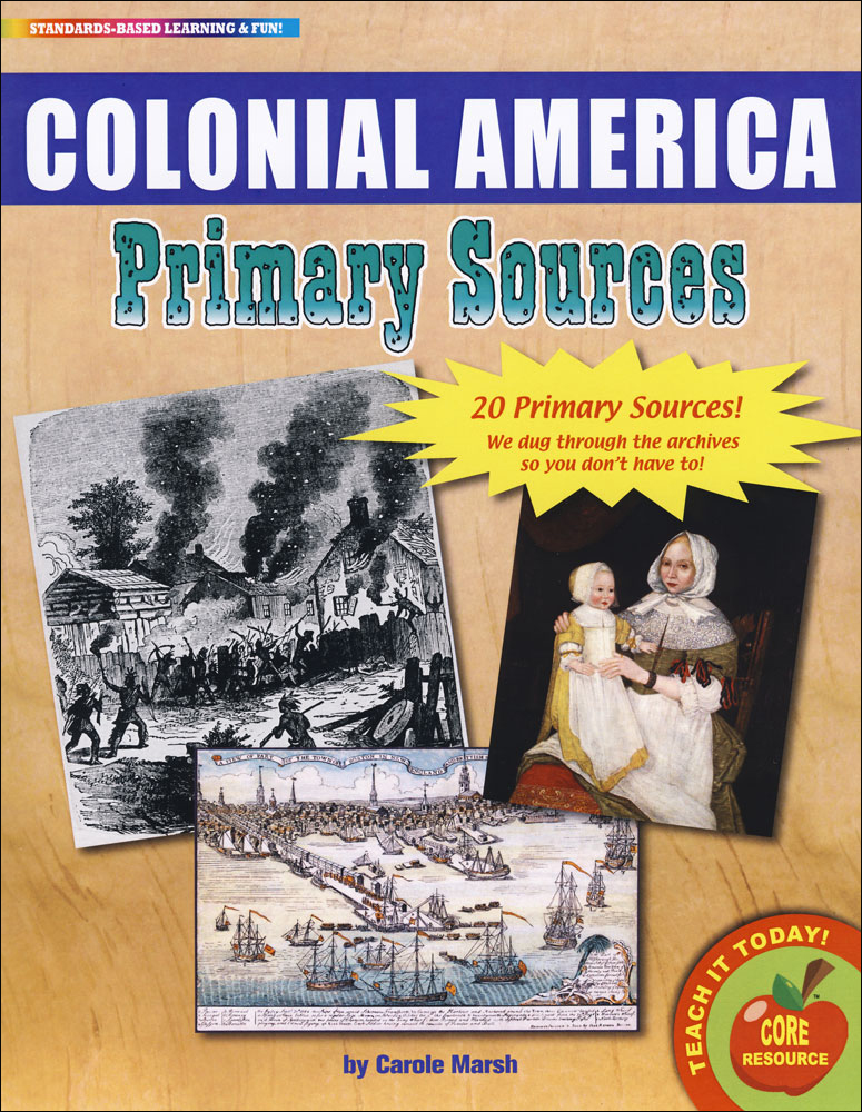 Colonial America Primary Sources Pack