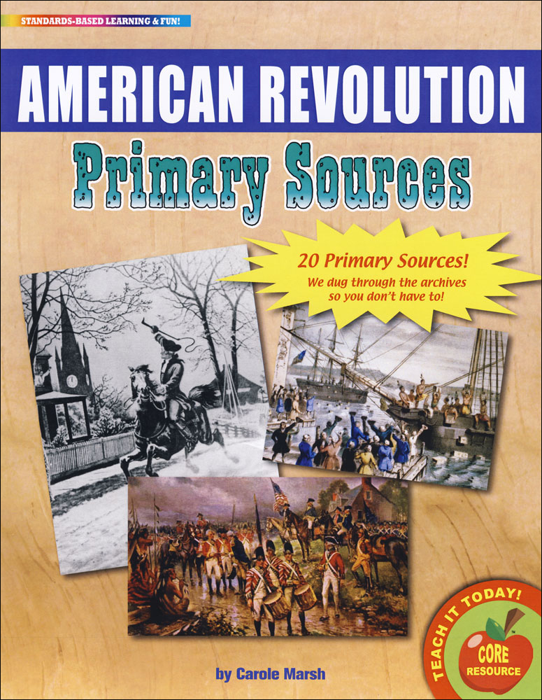 American Revolution Primary Sources Pack