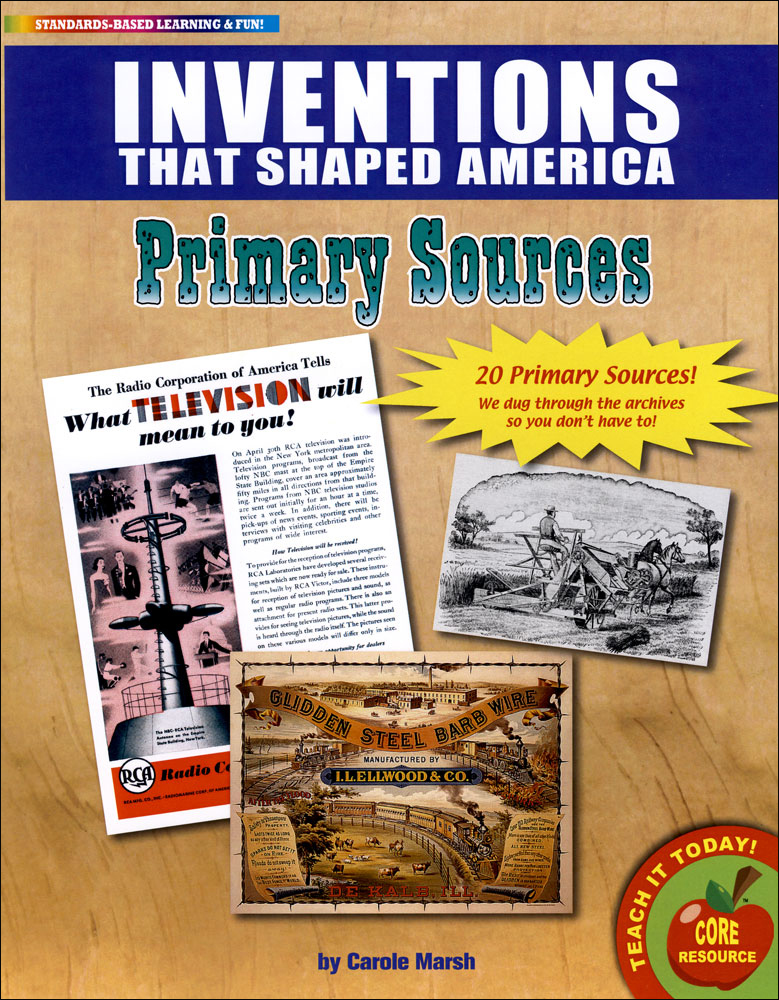 Inventions That Shaped America Primary Sources Pack
