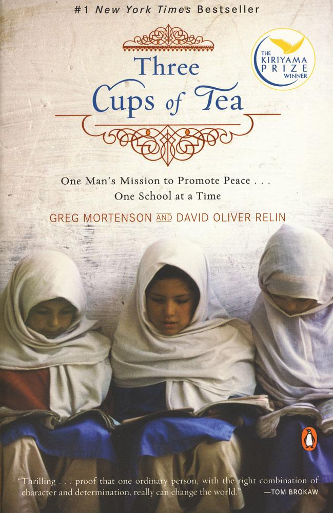Three Cups of Tea Paperback Book (910L)
