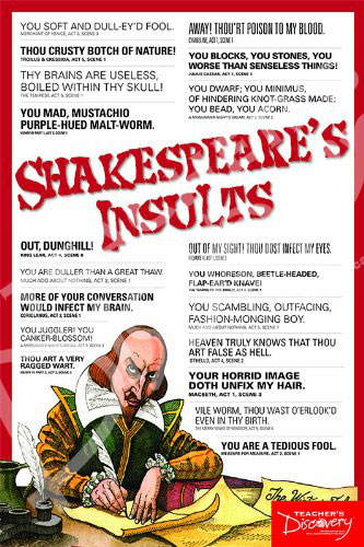 Shakespeare's Insults Poster