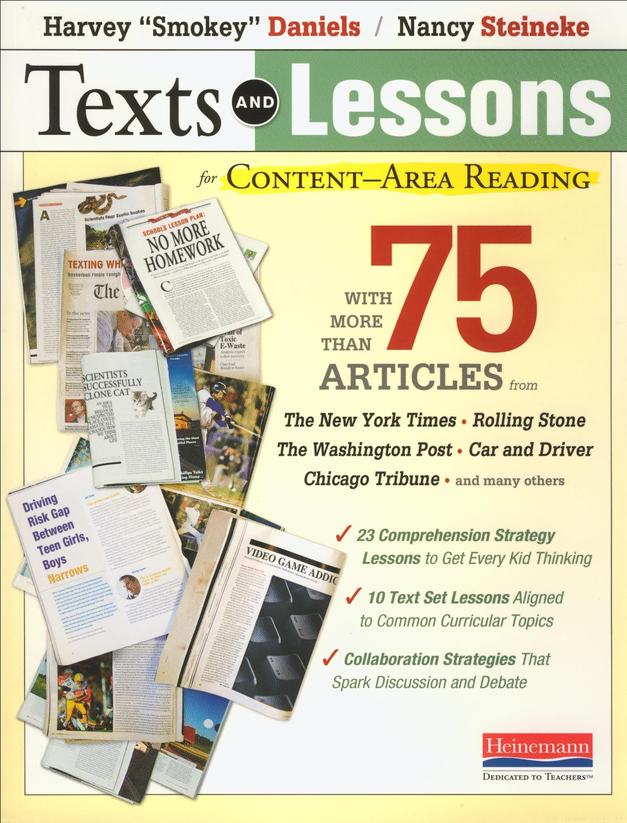 Texts and Lessons for Content Reading Reproducible Book