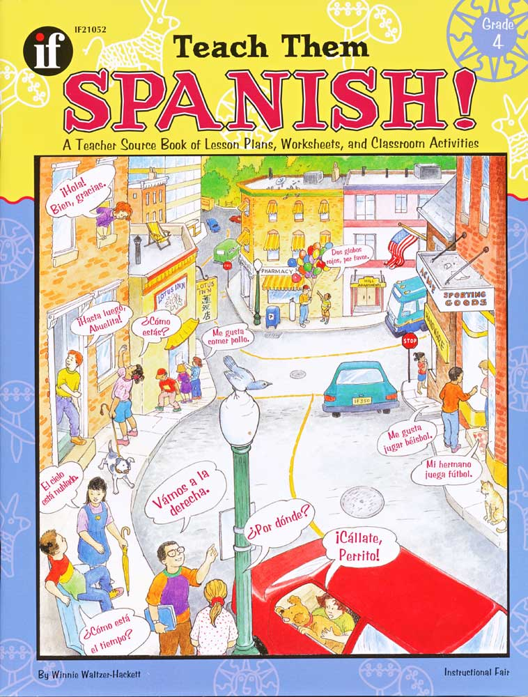 Teach Them Spanish! Grade 4 Book
