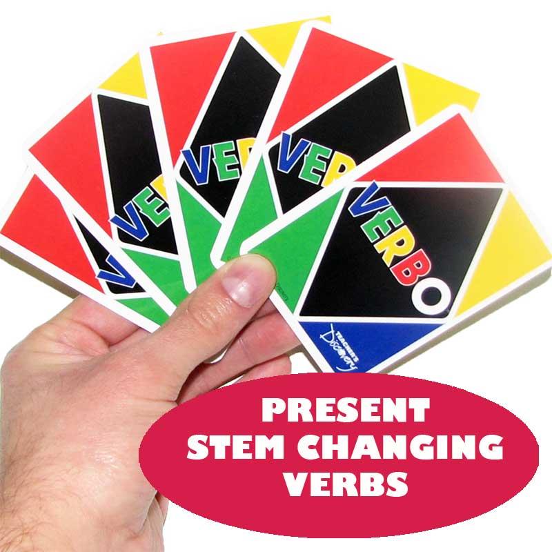 Verbo™ Spanish Card Game Present Tense Stem-Changing Verbs