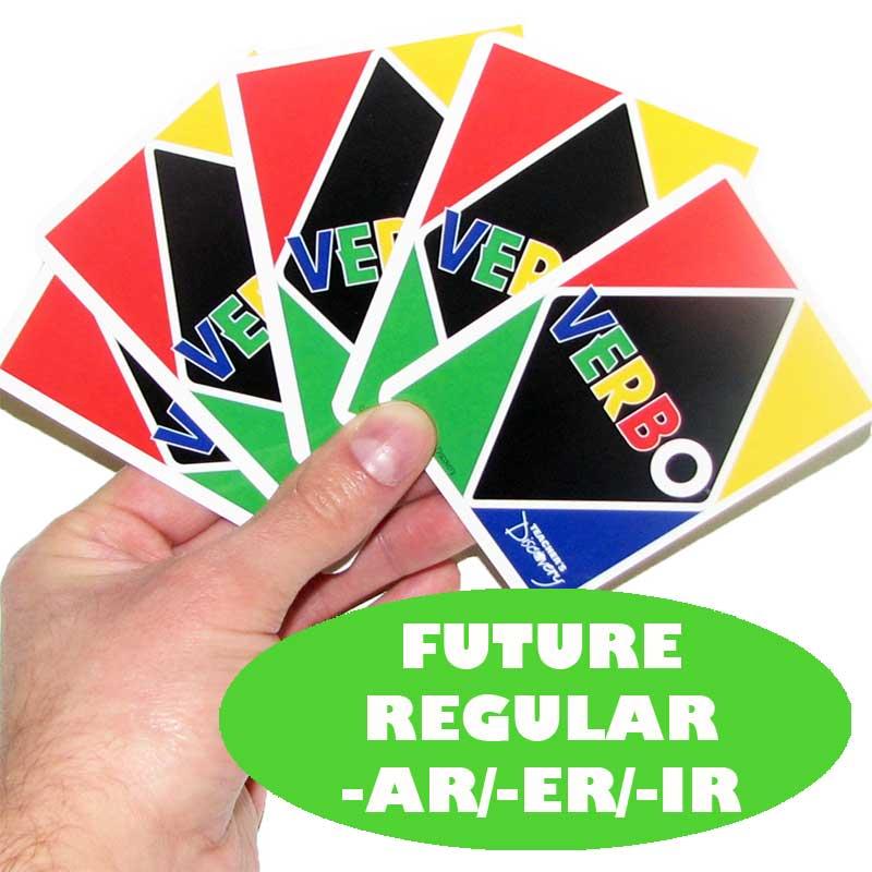 Verbo™ Spanish Card Game Future Tense Regular -AR/ER/IR Verbs