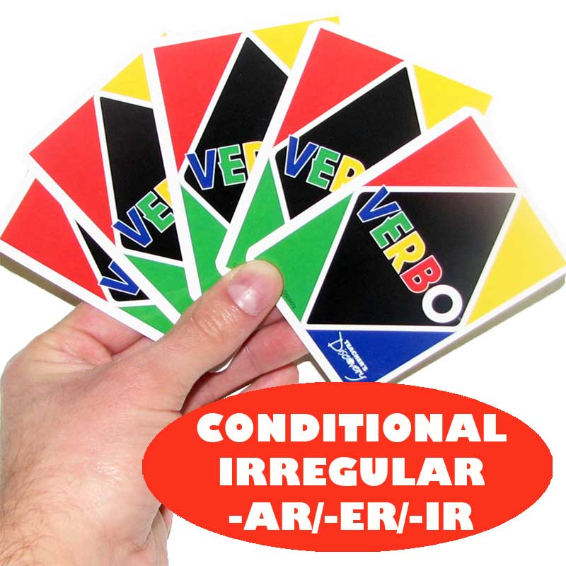 Verbo™ Spanish Card Game Irregular Conditional -AR/ER/IR Verbs