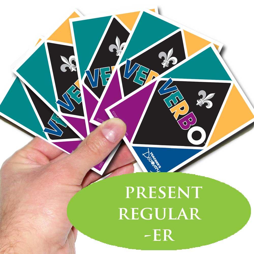 Verbo™ French Card Game Present Tense Regular Verbs