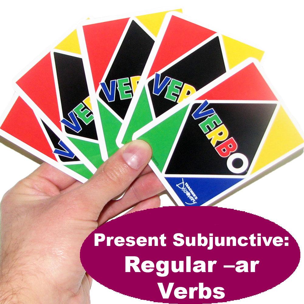 Verbo™ Spanish Card Game Present Subjunctive Regular -AR Verbs