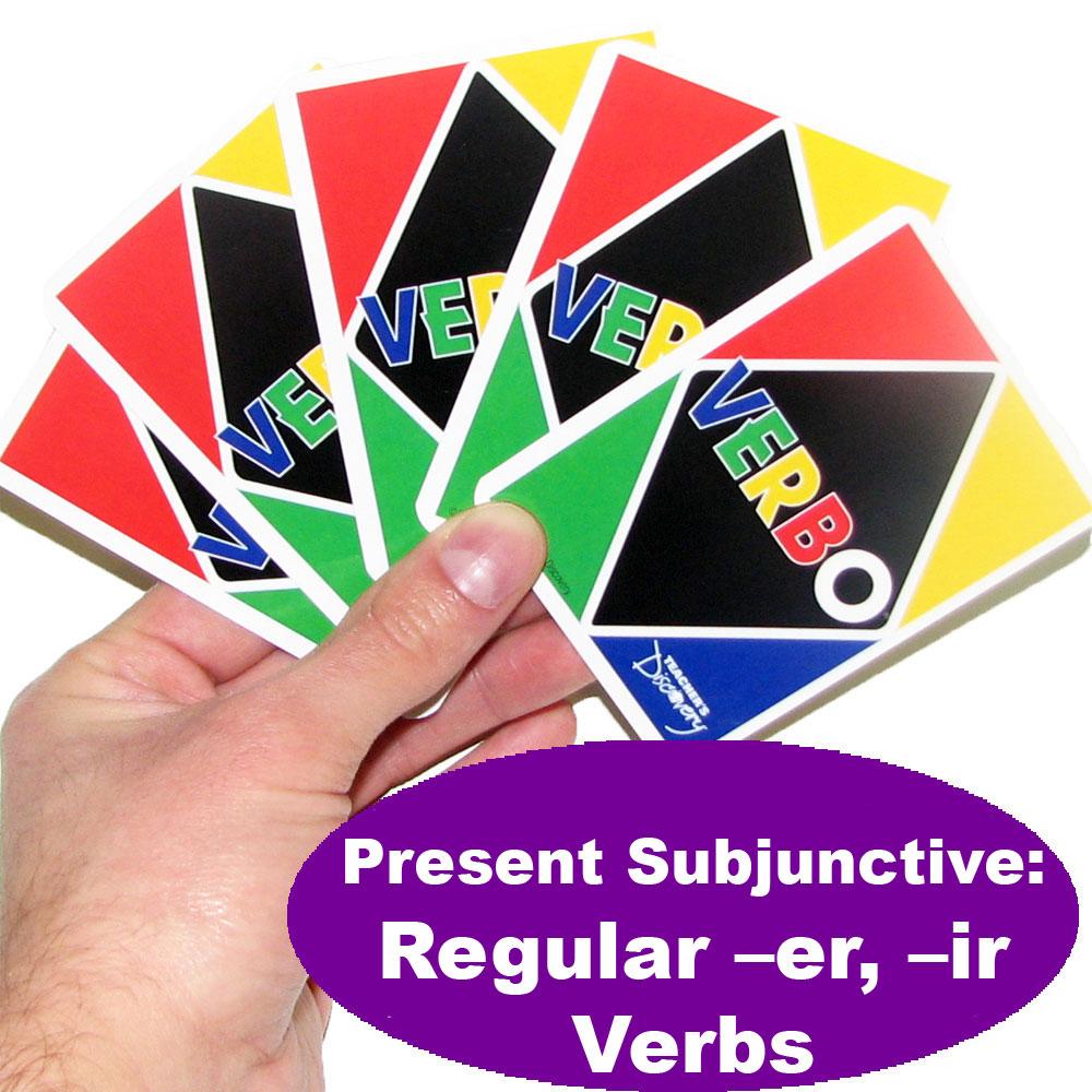 Verbo™ Spanish Card Game Present Subjunctive Regular -ER & -IR Verbs