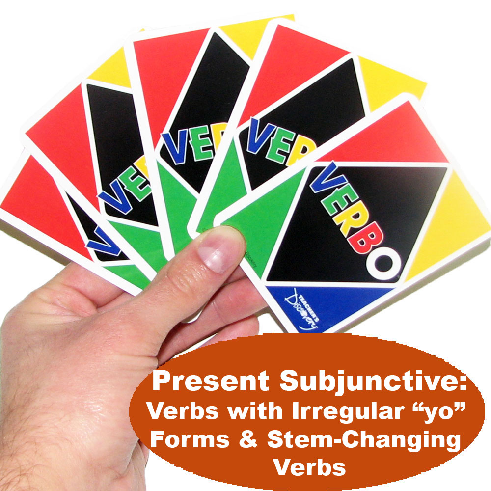 Verbo™ Spanish Card Game Present Subjunctive Verbs with Irregular