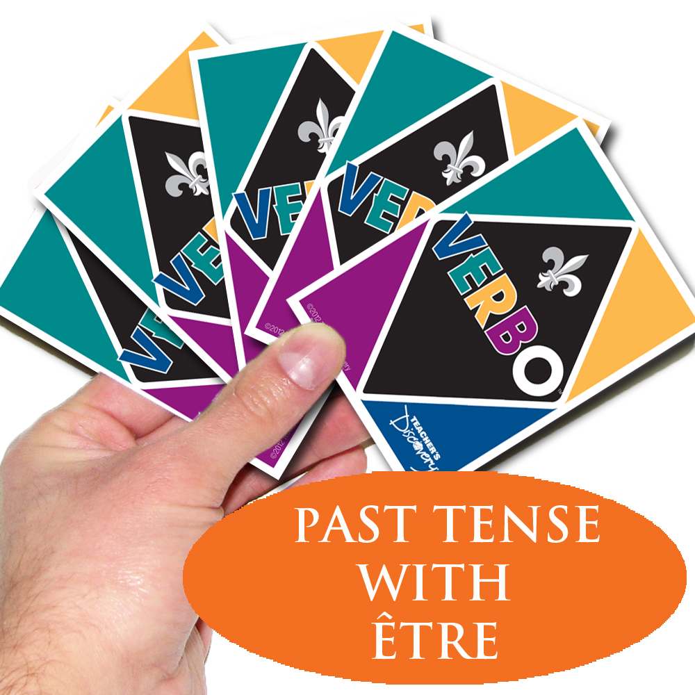Verbo™ French Card Game Past Tense Verbs with Être