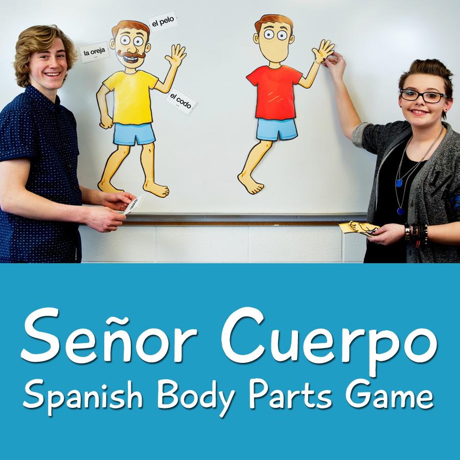 Señor Cuerpo Spanish Body Parts Game