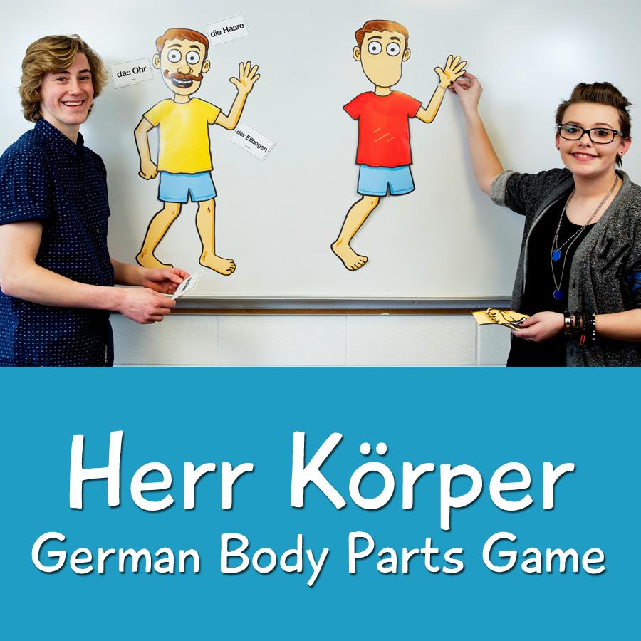Herr Körper German Body Parts Game