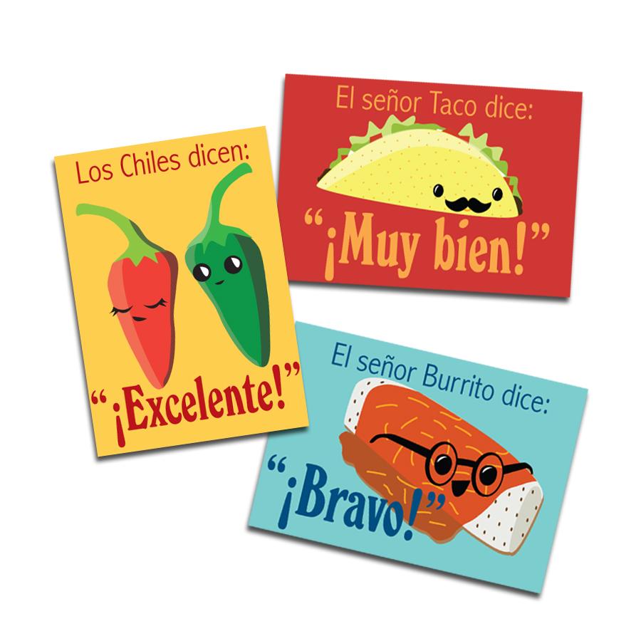 Señor Taco & Friends Spanish Stickers (60)