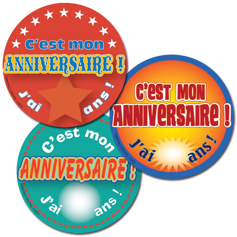 It's My Birthday! French Stickers (90)