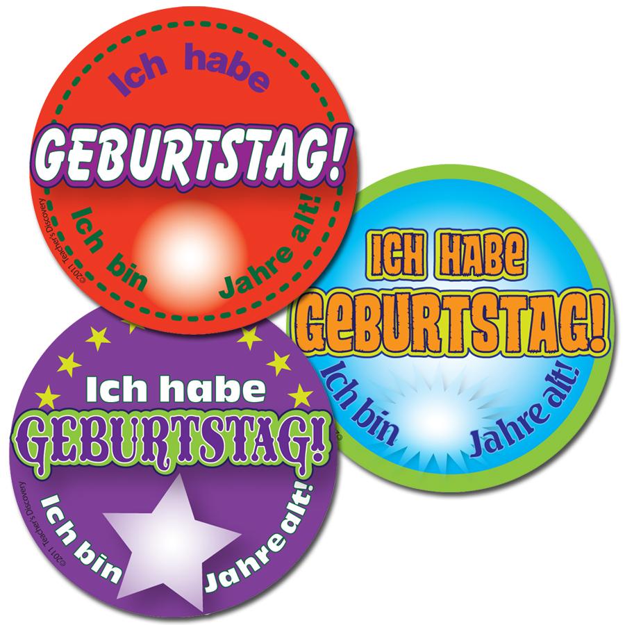 It's My Birthday! German Stickers (90)