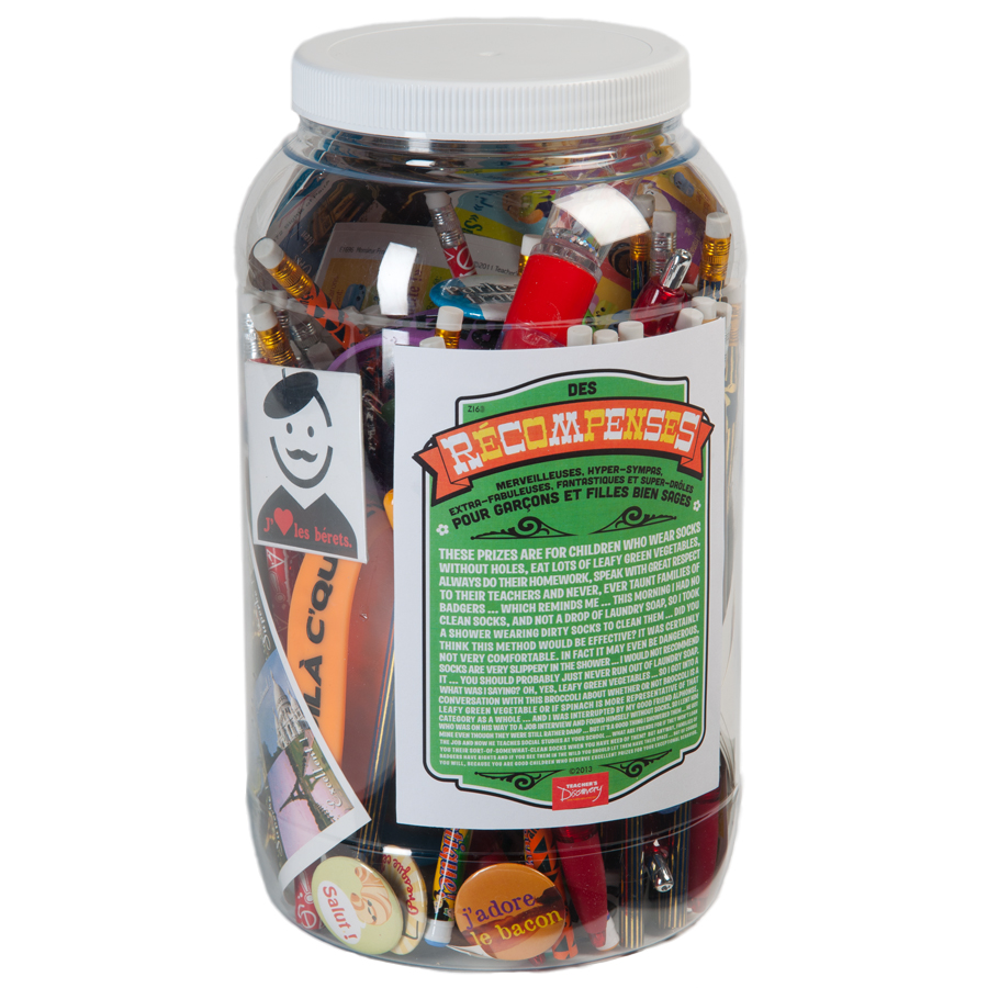 Prize Jar Incentive French Assortment 100+ Pieces
