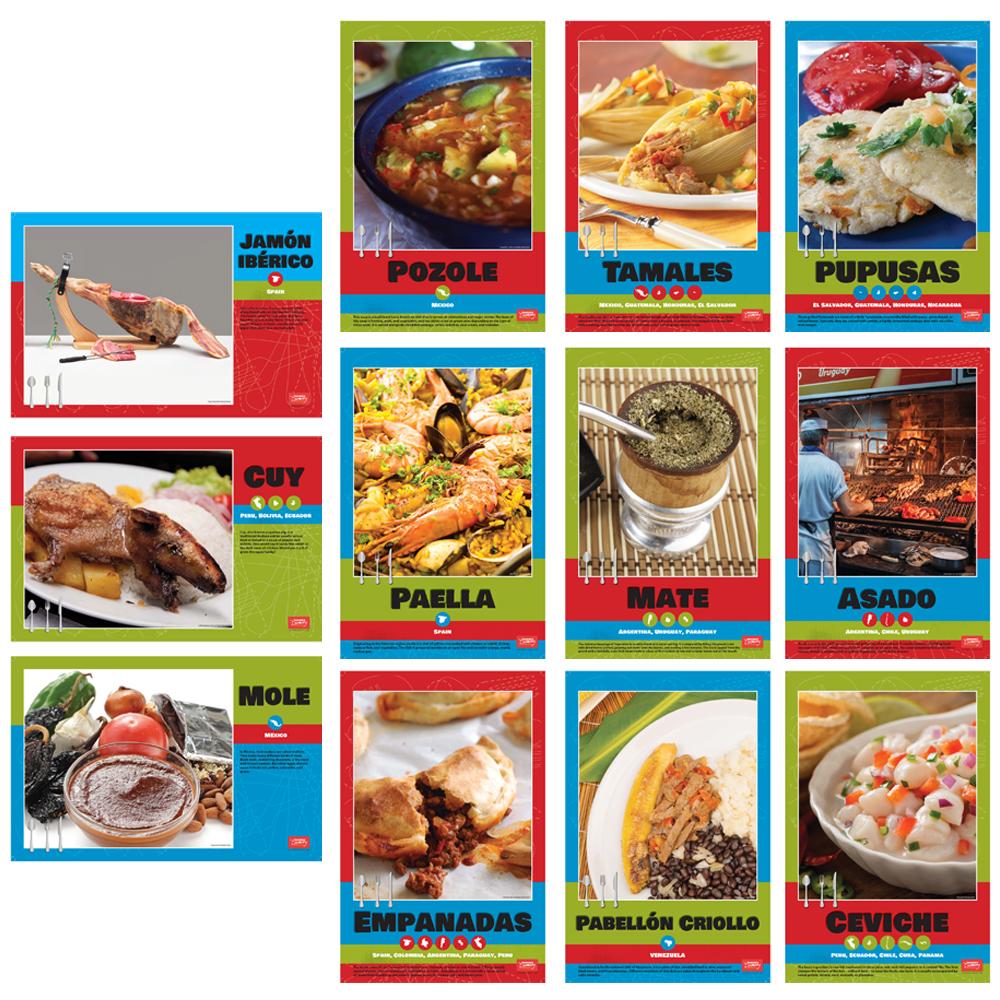 Spanish Regional Foods Bulletin Board Set