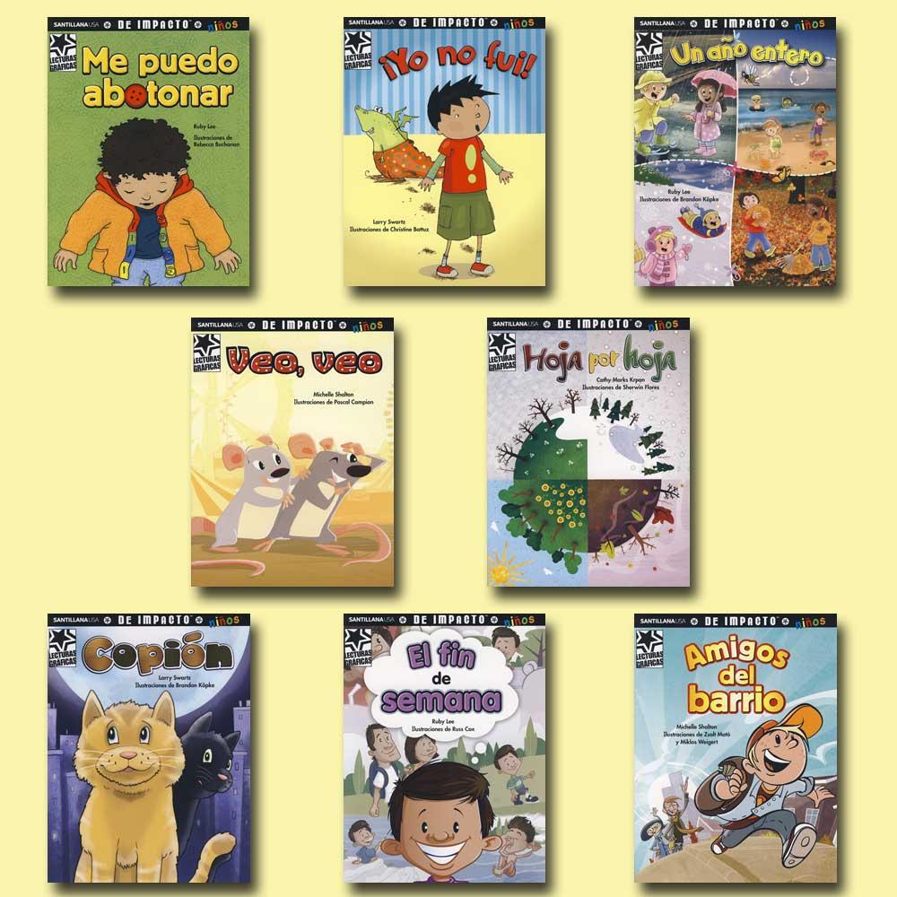 Spanish Graphic Readers Set of 8
