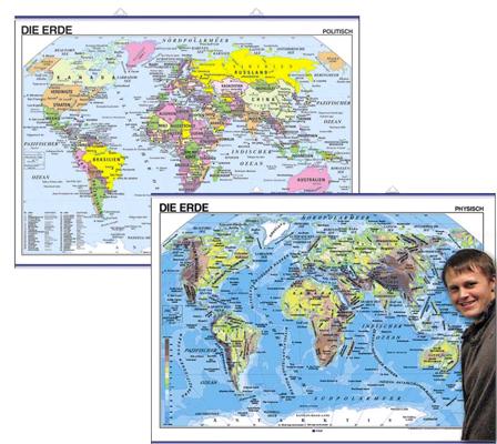 World Map in German