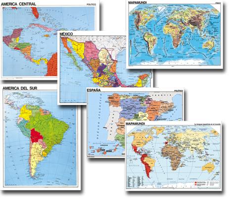 Spanish Maps - Set of 6