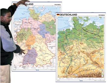 Germany Map in German