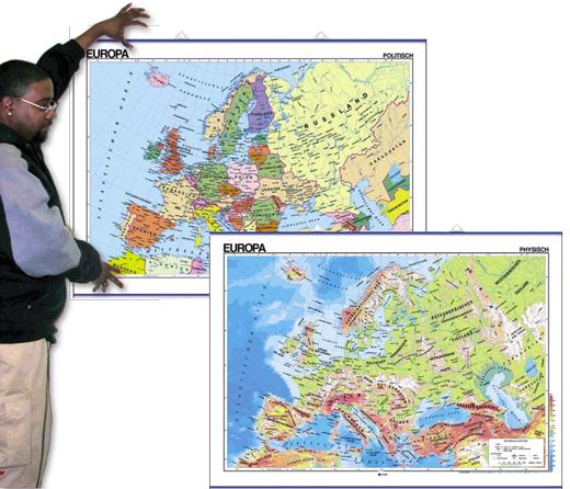 Europe Map in German