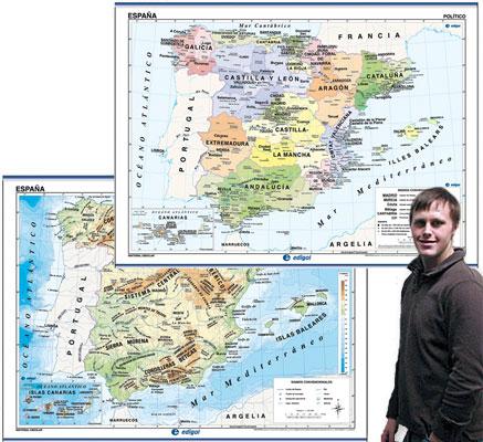 Spain Map in Spanish