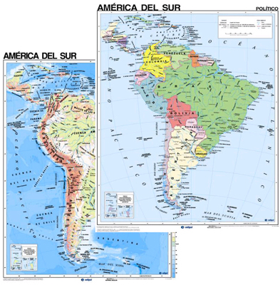 South America Map in Spanish