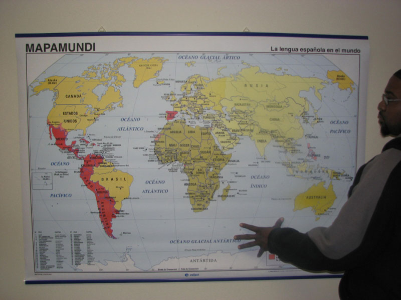 World Map of Spanish-Speaking Countries