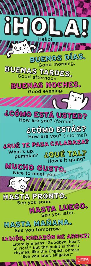 Hello Skinny Poster Spanish