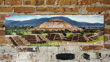 Teotihuacán México Panoramic Poster