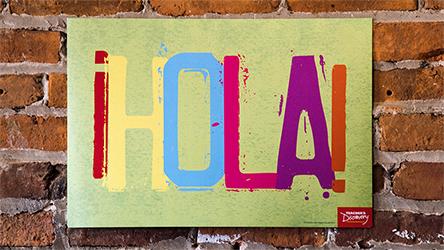 Hello Spanish Mini-Poster