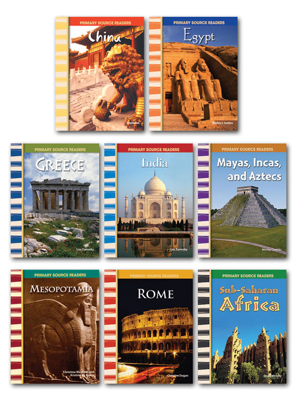 Ancient Civilizations Primary Source Readers - Set of 8
