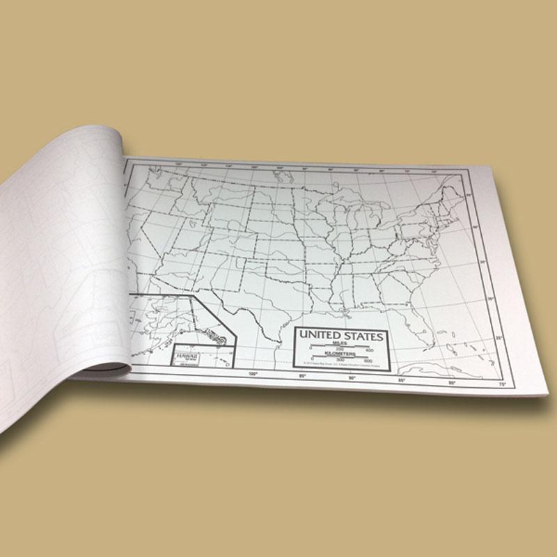 U.S. Outline Study Map Pad