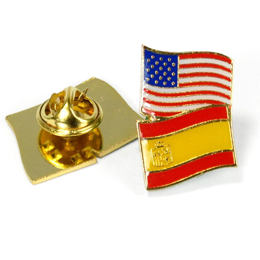 Spain/USA Flag Enhanced® Pin