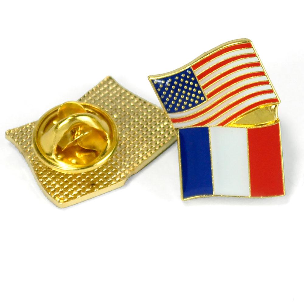 France/USA Flag Enhanced® Pin
