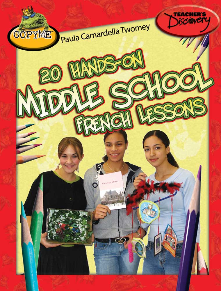 20 Hands-On Middle School French Lessons Book