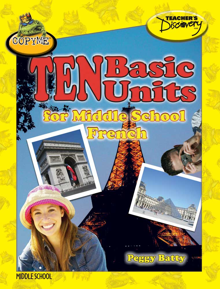 10 Basic Units for Middle School French Book
